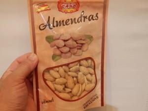 お土産のスペイン産アーモンド